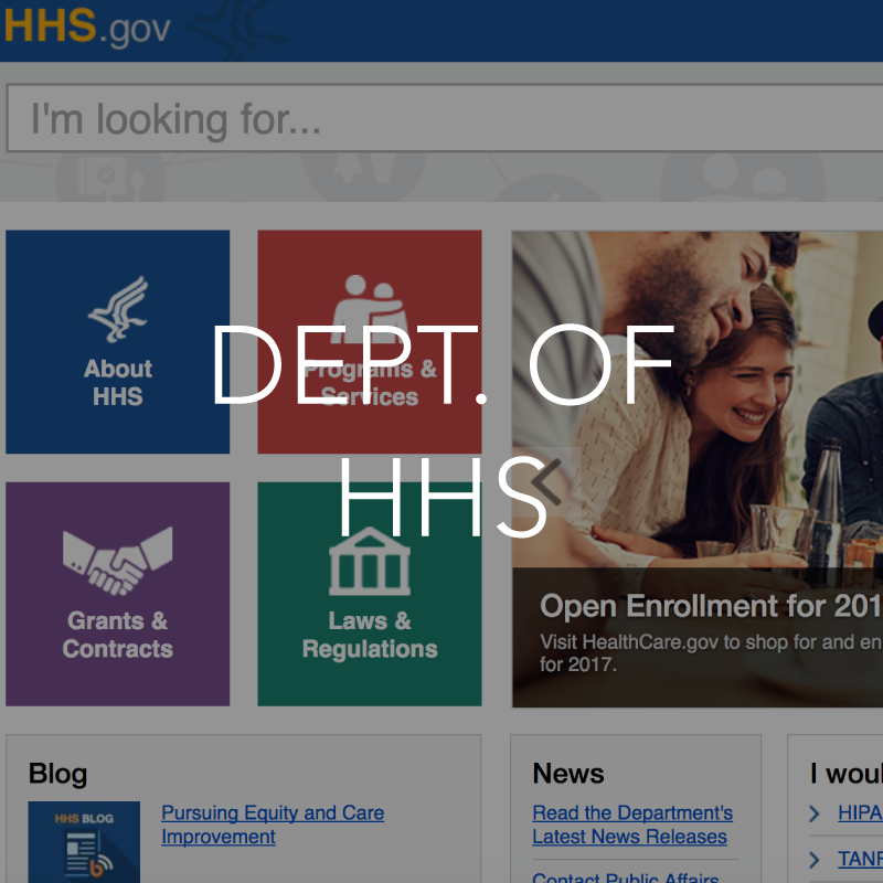 Deptartment of hhs resource