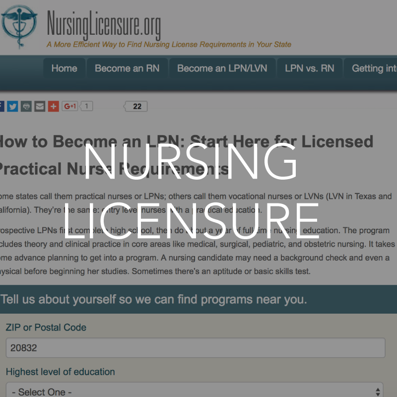 Nursing licensure resource