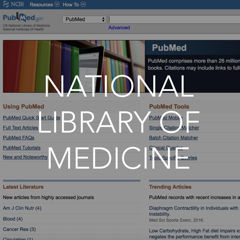 National library of medicine resource